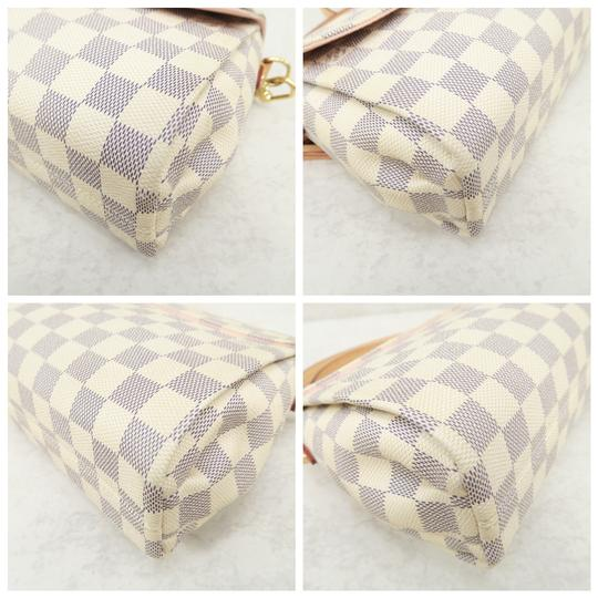 Louis Vuitton Lv Croissant Damier Azur Canvas Satchel in White Image 4