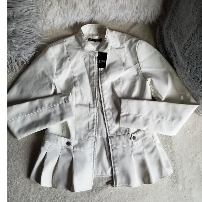 Preload https://item2.tradesy.com/images/baccini-white-jacket-size-4-s-25932631-0-1.jpg?width=400&height=650