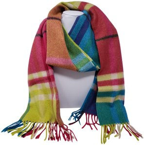 Burberry Pink multicolor Burberry cashmere Rainbow Nova Check scarf