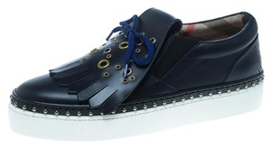 Burberry Leather Rubber Blue Athletic