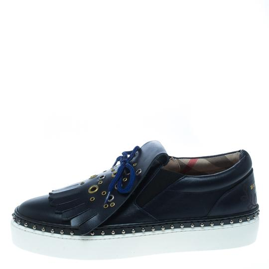 Burberry Leather Rubber Blue Athletic Image 1