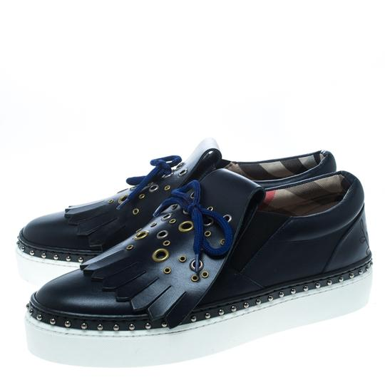 Burberry Leather Rubber Blue Athletic Image 3
