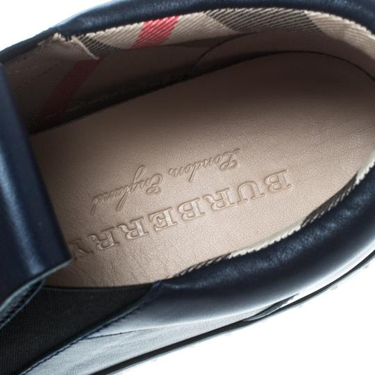 Burberry Leather Rubber Blue Athletic Image 6