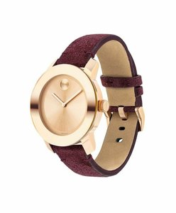 Movado Movado Women's Bold Rose Gold Dial/Red Suede Watch 3600447