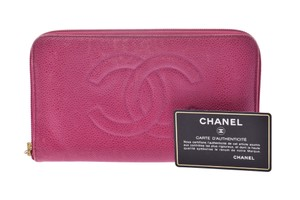 Chanel Chanel Leather Wallet Pink