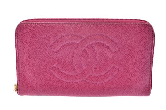 Chanel Chanel Leather Wallet Pink Image 1