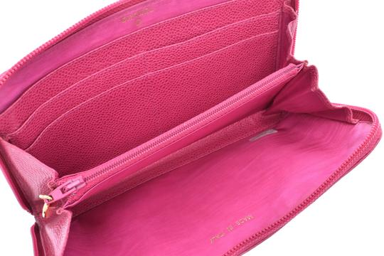 Chanel Chanel Leather Wallet Pink Image 10