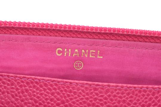 Chanel Chanel Leather Wallet Pink Image 11
