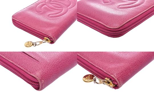 Chanel Chanel Leather Wallet Pink Image 4