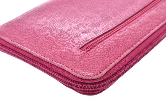 Chanel Chanel Leather Wallet Pink Image 5