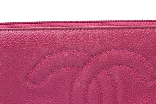 Chanel Chanel Leather Wallet Pink Image 8