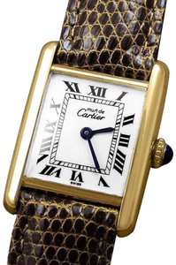 Cartier Cartier Vintage Ladies Tank Mechanical Watch - Gold Vermeil, 18K Gold