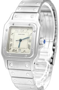 Cartier Cartier Santos Galbee Mens Midsize Unisex Watch with Date - Stainless