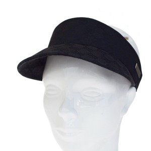 Gucci GUCCI GG Pattern Sherry Sun Visor Cap Cotton Black Accessory
