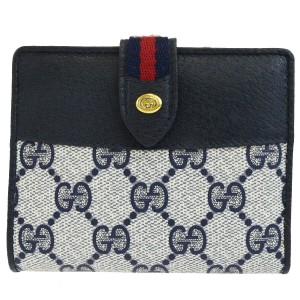Gucci BrandGUCCI Style Wallet Color/Material Navy Blue/PVC Leather Coun