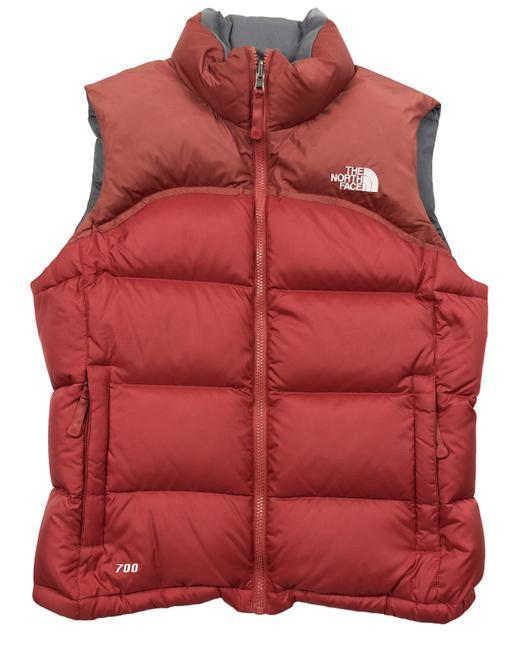 Item - Brick Red 700 Goose Down Ski Jacket Womens Vest Size 8 (M)