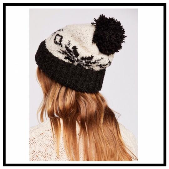 Free People FREE PEOPLE COZY LUXE POM POM RIBBED KNIT NORDIC BEANIE HAT Image 2