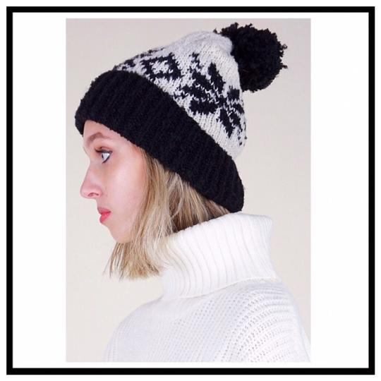 Free People FREE PEOPLE COZY LUXE POM POM RIBBED KNIT NORDIC BEANIE HAT Image 3