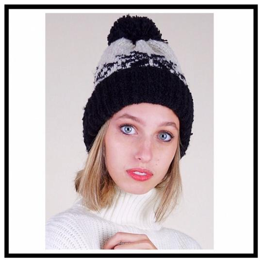 Free People FREE PEOPLE COZY LUXE POM POM RIBBED KNIT NORDIC BEANIE HAT Image 5