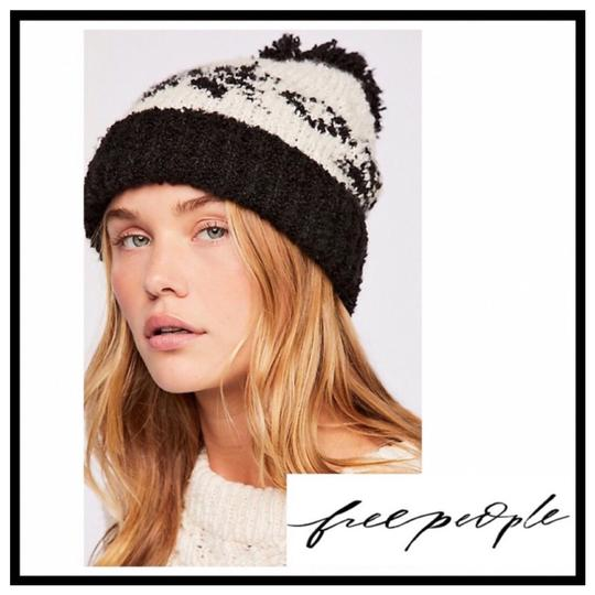 Free People FREE PEOPLE COZY LUXE POM POM RIBBED KNIT NORDIC BEANIE HAT Image 7