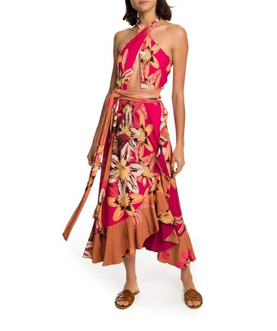 red floral Maxi Dress by PatBO Image 1