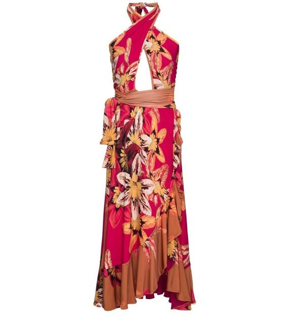 red floral Maxi Dress by PatBO Image 2