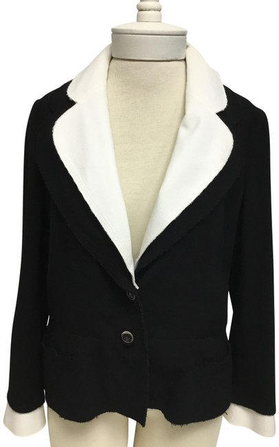 Item - Black With White Detachable Collar Cuff and Vest Jacket Size 8 (M)