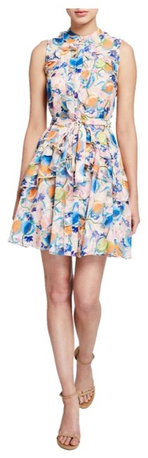 Item - Peach (Multi) Tilly Floral Ruffle Shirtdress Short Cocktail Dress Size 2 (XS)
