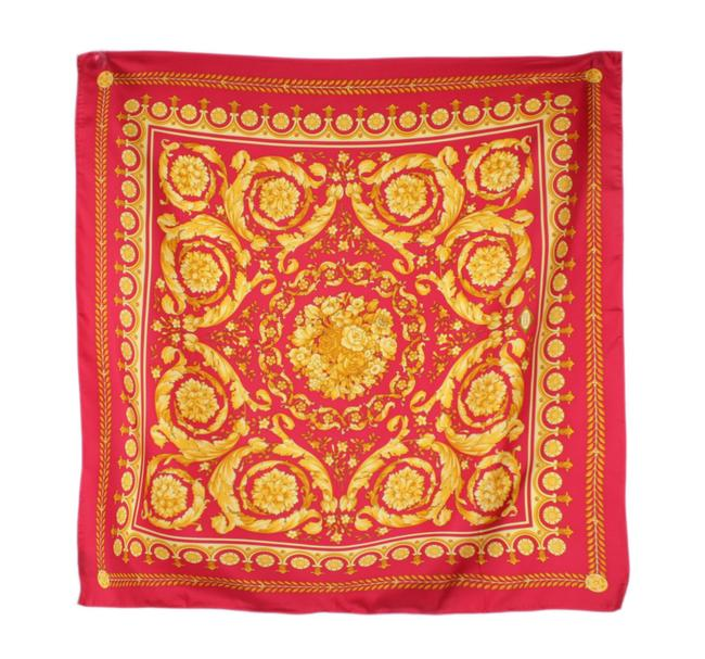 Item - Red/Gold Barocco Floral Print Scarf/Wrap
