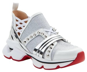 Christian Louboutin White & Silver Athletic
