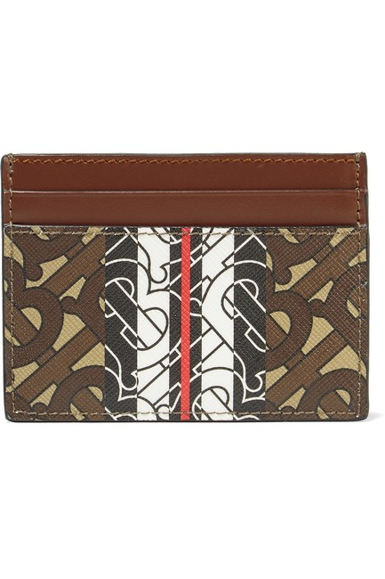 Burberry Printed Textured-leather Cardholder Wallet Burberry Printed Textured-leather Cardholder Wallet Image 1