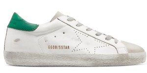 Golden Goose Deluxe Brand Sneakers Flats White green Athletic