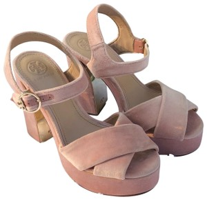 Tory Burch light pink Platforms
