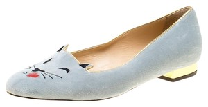 Charlotte Olympia Leather Grey Flats
