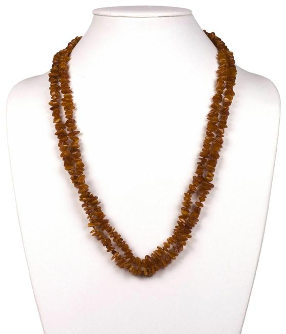 Item - Amber Baltic Chip Bead Flapper Necklace