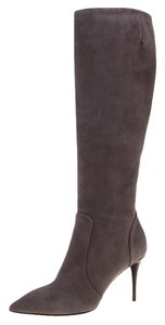 Giuseppe Zanotti Pointed Toe Suede Grey Boots