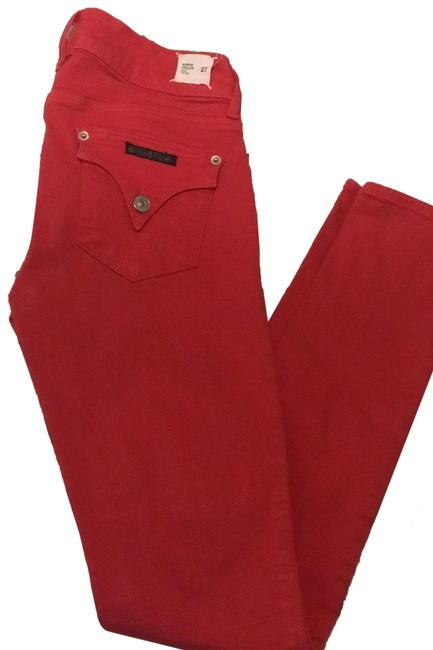 Item - Red Medium Wash Midrise Collin Fit Skinny Jeans Size 27 (4, S)
