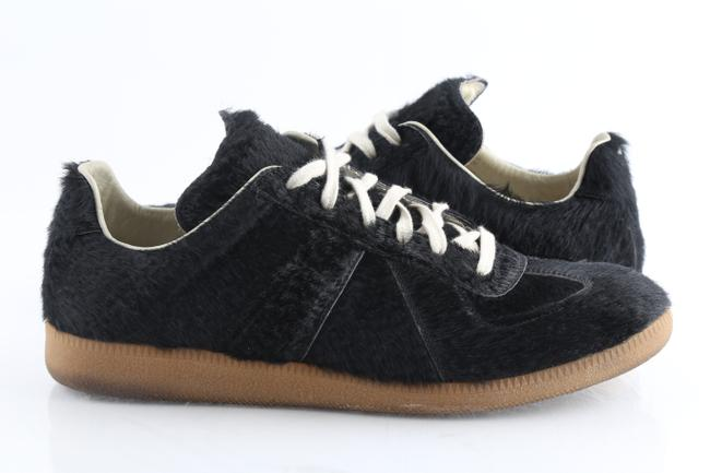 Item - Black Low Top Pony Hair Sneakers Shoes