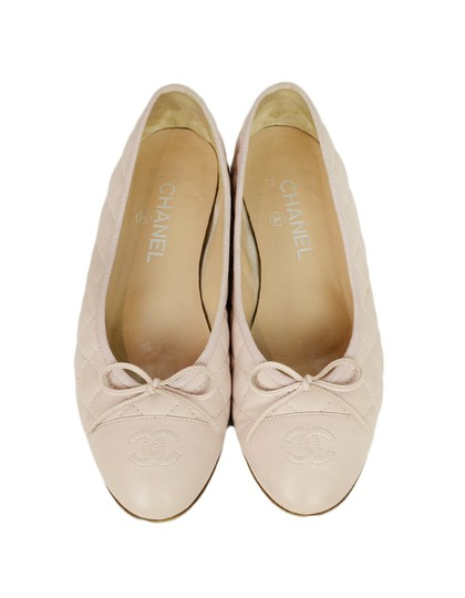 Chanel Quilted Leather Ballet Pink Blush Flats Image 3