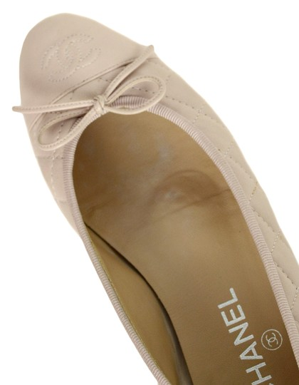 Chanel Quilted Leather Ballet Pink Blush Flats Image 5