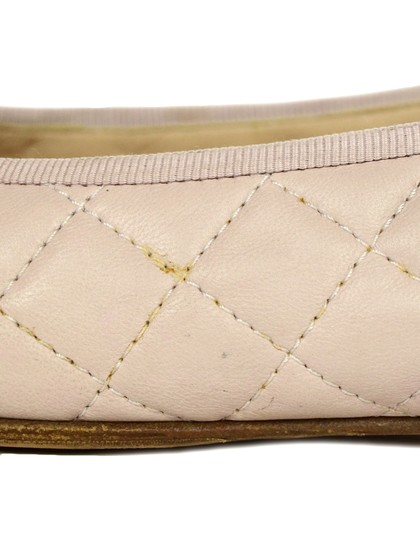 Chanel Quilted Leather Ballet Pink Blush Flats Image 6