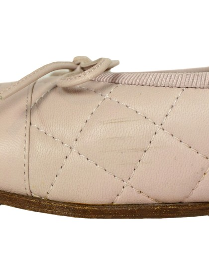 Chanel Quilted Leather Ballet Pink Blush Flats Image 7