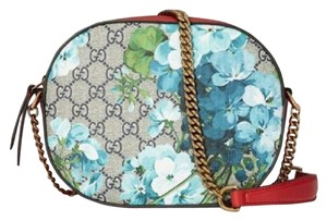 Gucci Beige/Blue Gg Coated Canvas Bloom 546313 8492 Shoulder Bag