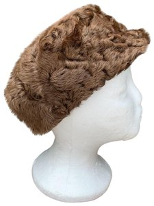 Other Swakara Lamb Fur Vintage Newsboy Hat From Germany Small