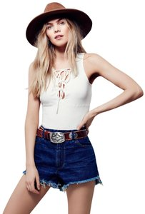 Free People Top White/Ivory