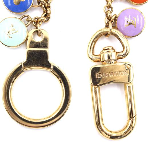 Louis Vuitton Ultra RARE monogram gold lock charms ring chain for bag Image 4