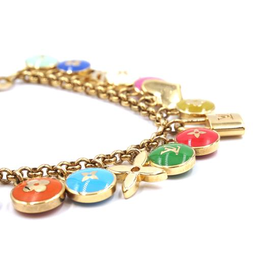Louis Vuitton Ultra RARE monogram gold lock charms ring chain for bag Image 5