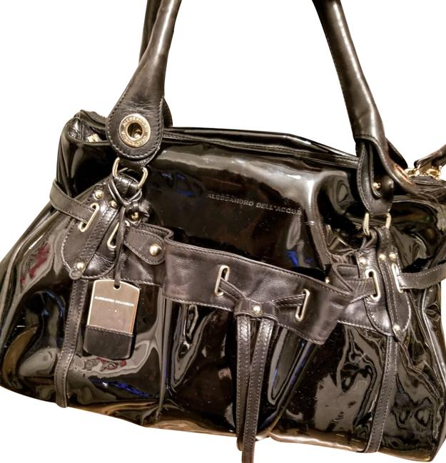 Item - Patent Black Leather Satchel