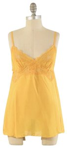 A Common Thread Lightweight Sheer Lace Trim Cami Top Yellow