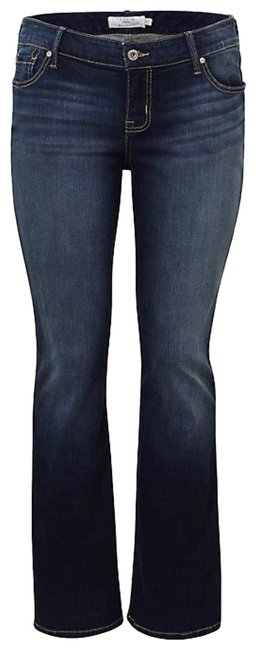 Item - Dark Rinse Vintage Stretch Relaxed / 31 Boot Cut Jeans Size 12 (L, 32, 33)